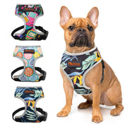 Nylon Dog Cat Harness Printed Puppy Small Dogs Harnesses Vest Pet Walking Leash for Cats French Bulldog Chihuahua Yorkshire