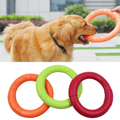 Pet Flying Discs EVA Dog Training Ring Puller Resistant Bite Floating Toy Puppy Outdoor Interactive Game Playing Products Supply