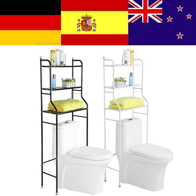 3-Tier Iron Toilet Towel Storage Rack Holder Over Bathroom Shelf Organizer for Store Shampoo/ Towel etc Accessory