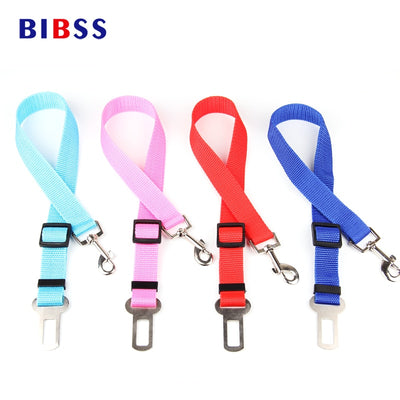 Car Safety Belt Nylon Dog/ Cat Seat Lead Leash Harness for Puppy Kitten Vehicle Security Leash 65cm Adjustable