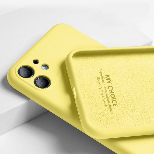 iPhone 11 Pro SE 2 Case Luxury Original Silicone Full Protection Soft Cover For iPhone X XR 11 XS Max 7 8 6 6s Phone Case