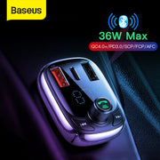 Car Charger for Phone FM Transmitter Bluetooth Car Kit Audio MP3 Player Fast Dual USB Car Phone Charger