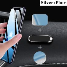 Load image into Gallery viewer, LISM Magnetic Car Phone Holder Dashboard Mini Strip Shape Stand For iPhone Samsung Xiaomi Metal Magnet GPS Car Mount for Wall