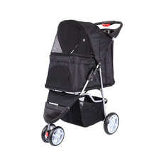 Load image into Gallery viewer, Pet Stroller Cart Puppy Dog Cat Travel Foldable 3 wheels Trolley Pet Outdoor Jogger Pushchair