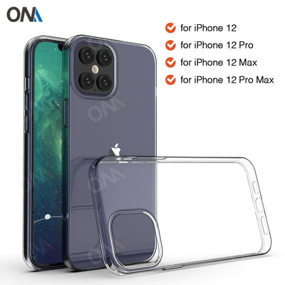 Case For iPhone 12 / Pro / Pro Max TPU Silicon Clear Fitted Bumper Soft Case for iPhone 12 Pro Max Transparent Back Cover