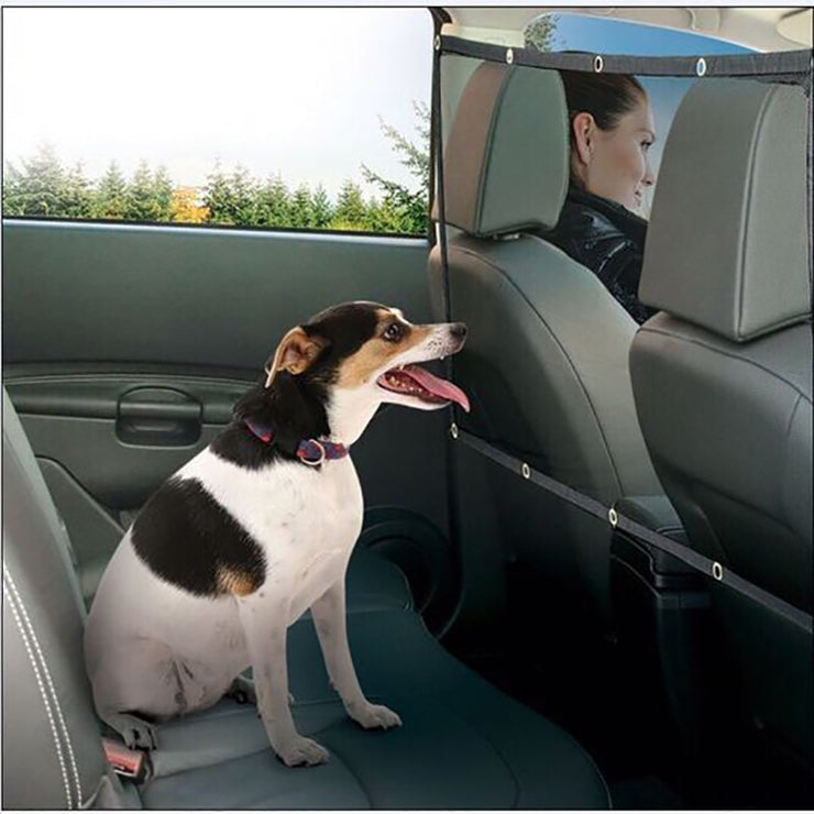 Portable Pet Car Barrier Mesh Dog Car Safety Outdoor Travel Isolation Net Back Seat Barrier Guard Keep Driving Safe Products