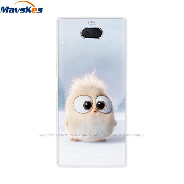Back Cover For Sony Xperia 10 Plus Case Silicone TSoft PU Phone Cases for For Sony Xperia 10 Painted Cartoon Cute fundas coque
