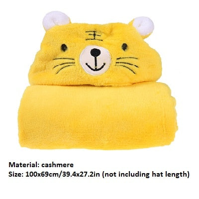 Cartoon Baby Infant Bath Towels 3D Lovely Soft Fleece Baby Bath Towel Kids Hooded Cloak Blanket Kids Children Shower Products