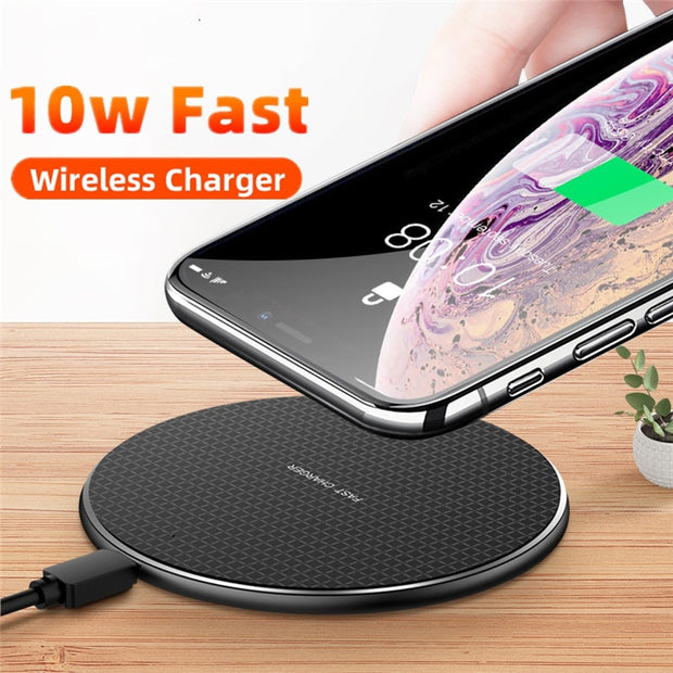 10W Qi Wireless Charger For General Universal Mobile Phone Quick Charge 3.0 Fast Wireless Charging Pad For Android Mobile Phone