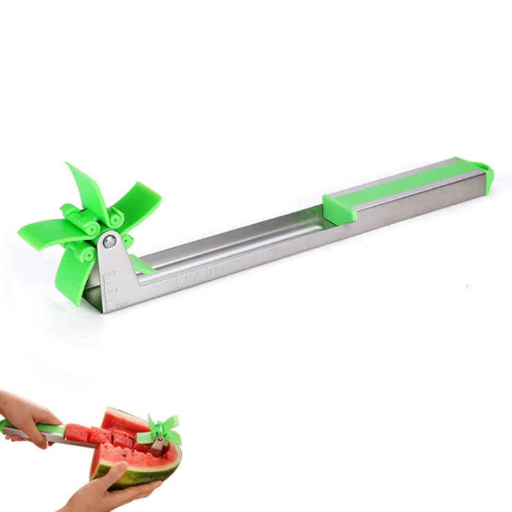 Kitchen Fruit Watermelon Knife Slicer Stainless Steel Windmill Cutting Spoon Corers Knife Fruit Salad Tool Kitchen Gadgets Tools