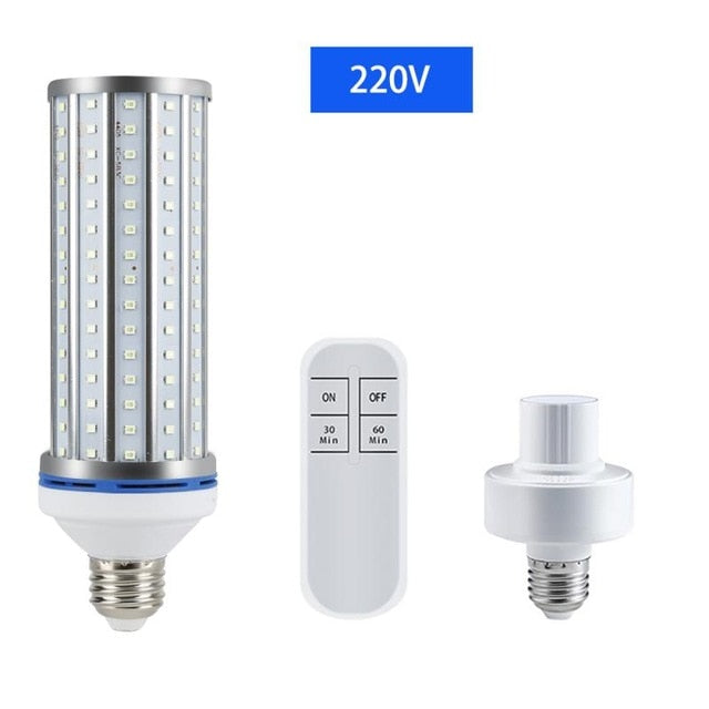 UV 60W LED Lamp E27 Germicidal Lamp Disinfection Bulb UVA Led Ultraviolet Light Corn Light Bulb Bactericidal Sterilization Lamps