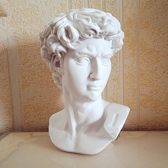David Head Portraits Bust Gypsum Statue Michelangelo Buonarroti Sculpture Home Decor Craft Sketch Practice L1239