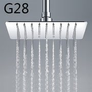 High Quality  200*200mm Square 304 Stainless Steel Rainfall Shower Faucet Overhead Shower GA28