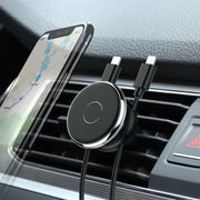 Car Phone Holder Car Air Vent Mount Stand Magnetic Mobile Holder For Phone Automotive Interior Products