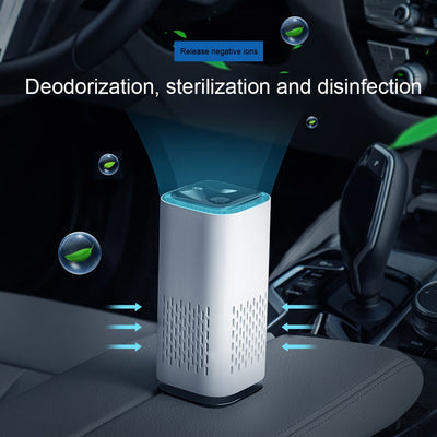 Portable Deodorizer Air Purifier USB Rechargeable Fridge Purifier Air Space Cleaner For Office Car Room Pets