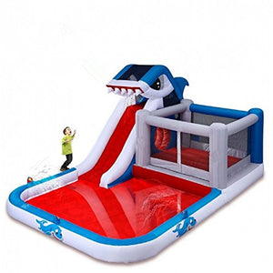 PVC inflatable water slide combo bouncer with pool 3 in 1 product for kids