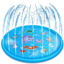Load image into Gallery viewer, Cartoon Shark Pattern Kids Water Sprinkler Inflatable Pad Spray Water For Children Pool Outdoor Games Play Water swimming Pool