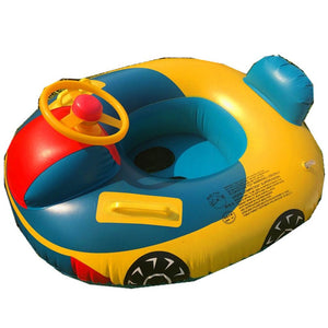 Swimming Ring with Steering Wheel Baby Swimming Accessories Inflatable Pool Ring Child Laps Swim Seat Float Boat