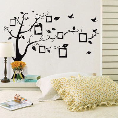 50x70cm 3D DIY Removable Photo Tree Pvc Wall Decals/Adhesive Wall Stickers Mural Art Home Decor