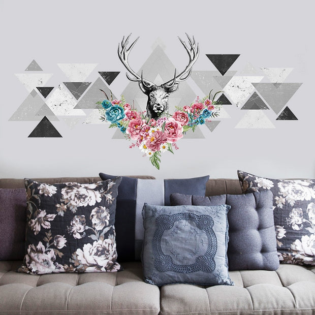 forest deer wall stickers home decor living room office decorations diy poster wallpaper pvc mural art 3d effect wall decals