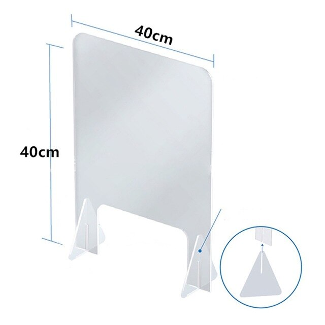 Sneeze Guard Shield Clear Perfection Reception Side Sale Counter Sprayed UV Cut Transparent Height Protection Screen