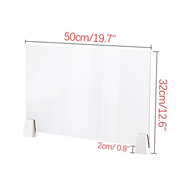 Sneeze Guard Shield Clear Perfection Reception Side Sale Counter Sprayed Uv Cut Transparent Height Protection Screen Dividers