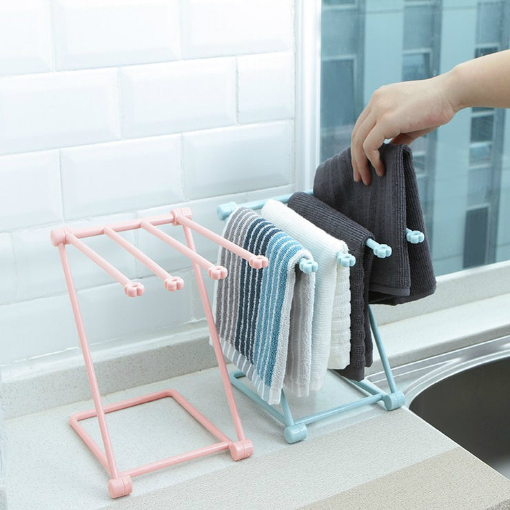 Rack kitchen rag towel rack foldable vertical space-saving desktop storage rack water cup rack