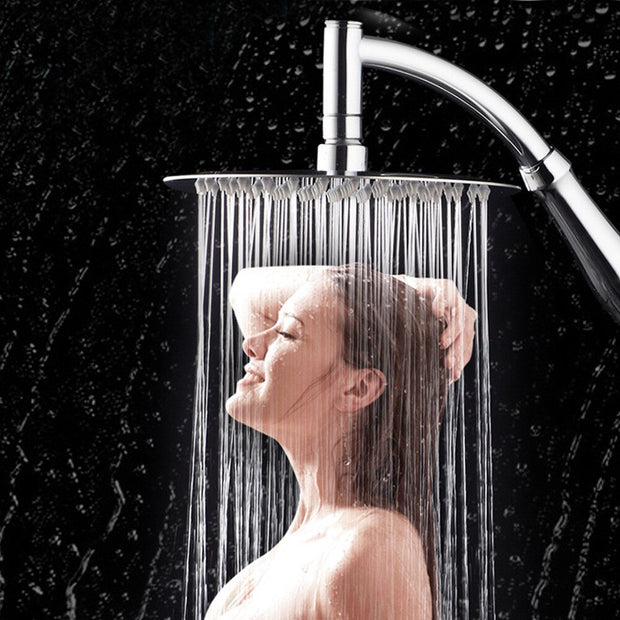 Rotating Large Shower Head Bathroom Stainless Steel Rain Spray Top  Bathroom Products Accessories XX21