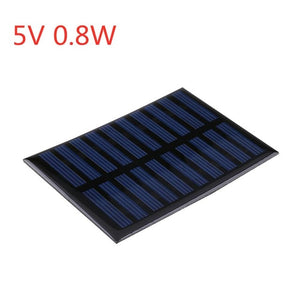 Solar Panel 2V 5V 6V 12V Mini Solar System DIY For Battery Cell Phone Chargers Portable Solar Cell 0.3W 0.8W 1W 1.2W 1.5W 2W 5W