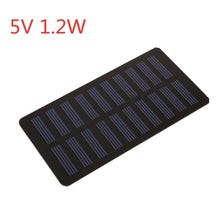 Load image into Gallery viewer, Solar Panel 2V 5V 6V 12V Mini Solar System DIY For Battery Cell Phone Chargers Portable Solar Cell 0.3W 0.8W 1W 1.2W 1.5W 2W 5W