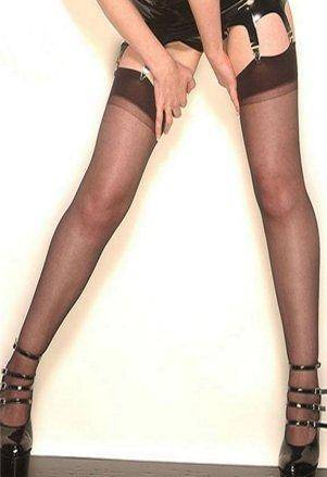 Nylon Plain Top Sheer Stockings – Choice of Colours