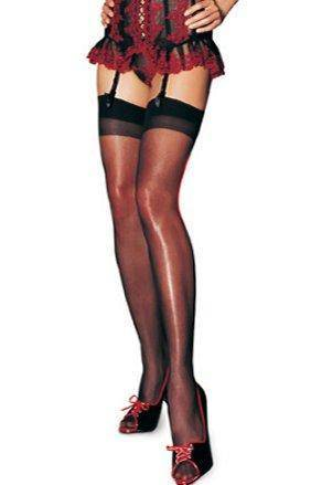 Plain Top Sheer Nylon Stockings – Choice of Colours