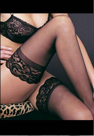 Lace Top Sheer Nylon Stockings in a Choice of Colours
