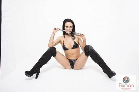 The Leynii PVC Sexy Bra Stockings and Thong