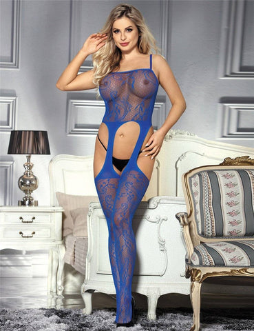 Image of The Sapphire Bodystocking Blue (Size UK S/M 6 - 10)