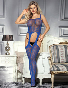 The Sapphire Bodystocking Blue (Size UK S/M 6 - 10)