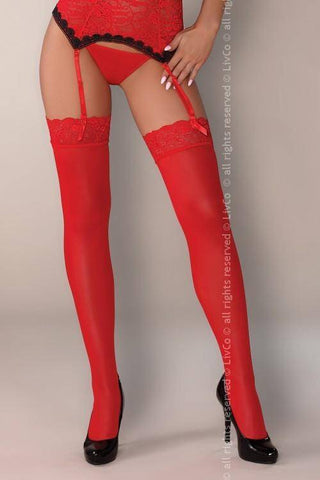 Claudia Red Jaspis Collection: Corset, Briefs and Stockings