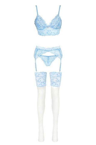 Acarin Air Collection Stunning Blue Lingerie Set