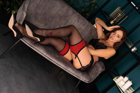 Merivan Red Top Band Stockings