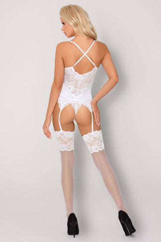 Alazne White Misteelina Collection Corset and Thong