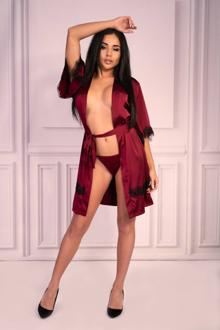 Image of Aresmina Cherry Mahogany Collection Dressing Gown
