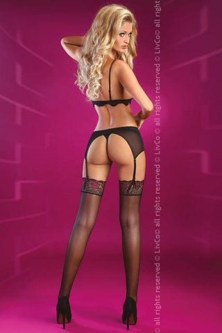 Rosalia Rose Collection Lace Top Sheer Stockings