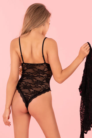 Silomin Sexy Lace Body and Dressing Gown