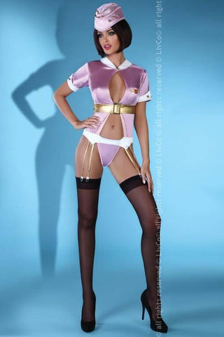 Image of Gedala Sexy Futuristic Space Stewardess Outfit