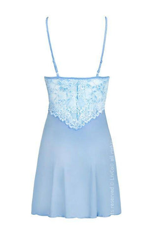 Image of Veer Air Collection Blue Nightdress