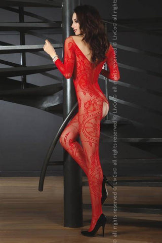 Zita Red Sexy Red Bodystocking