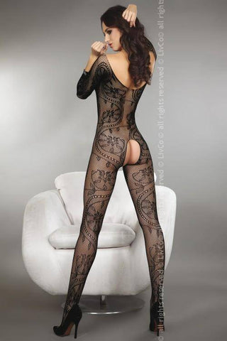 Zita Black Sexy Black Bodystocking