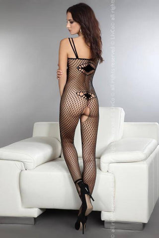 Image of Amkezia Black Decorative Thread Bodystocking
