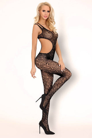 Ainas Sexy Black Fishnet Open Bodystocking