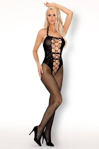 Sacnite Black Bodystocking